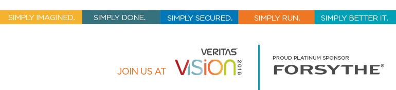Join Forsythe at Veritas Vision 2016