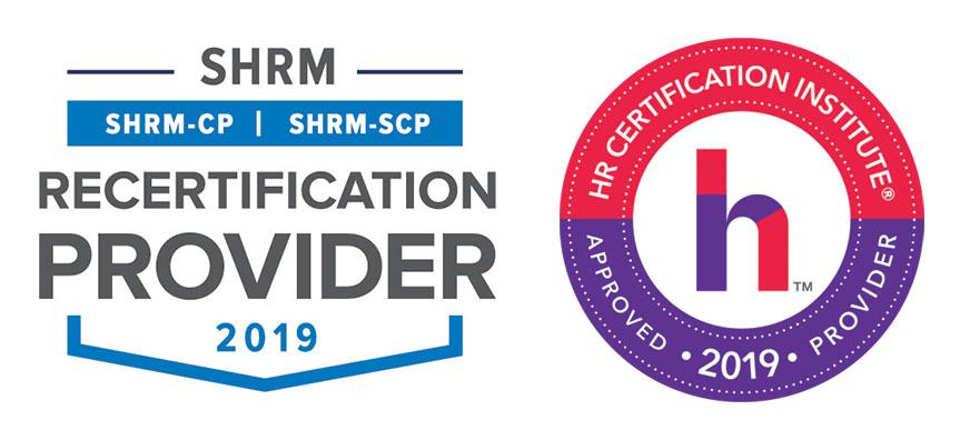 2019 SHRM and HRCI logo