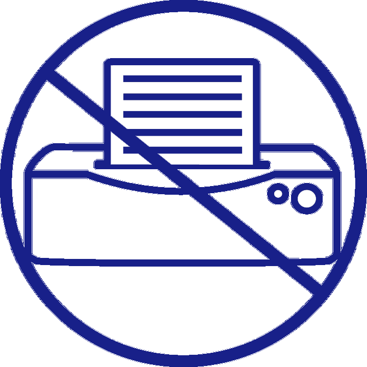 no printing icon