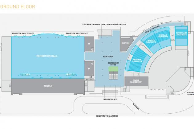 Canb conv centre map