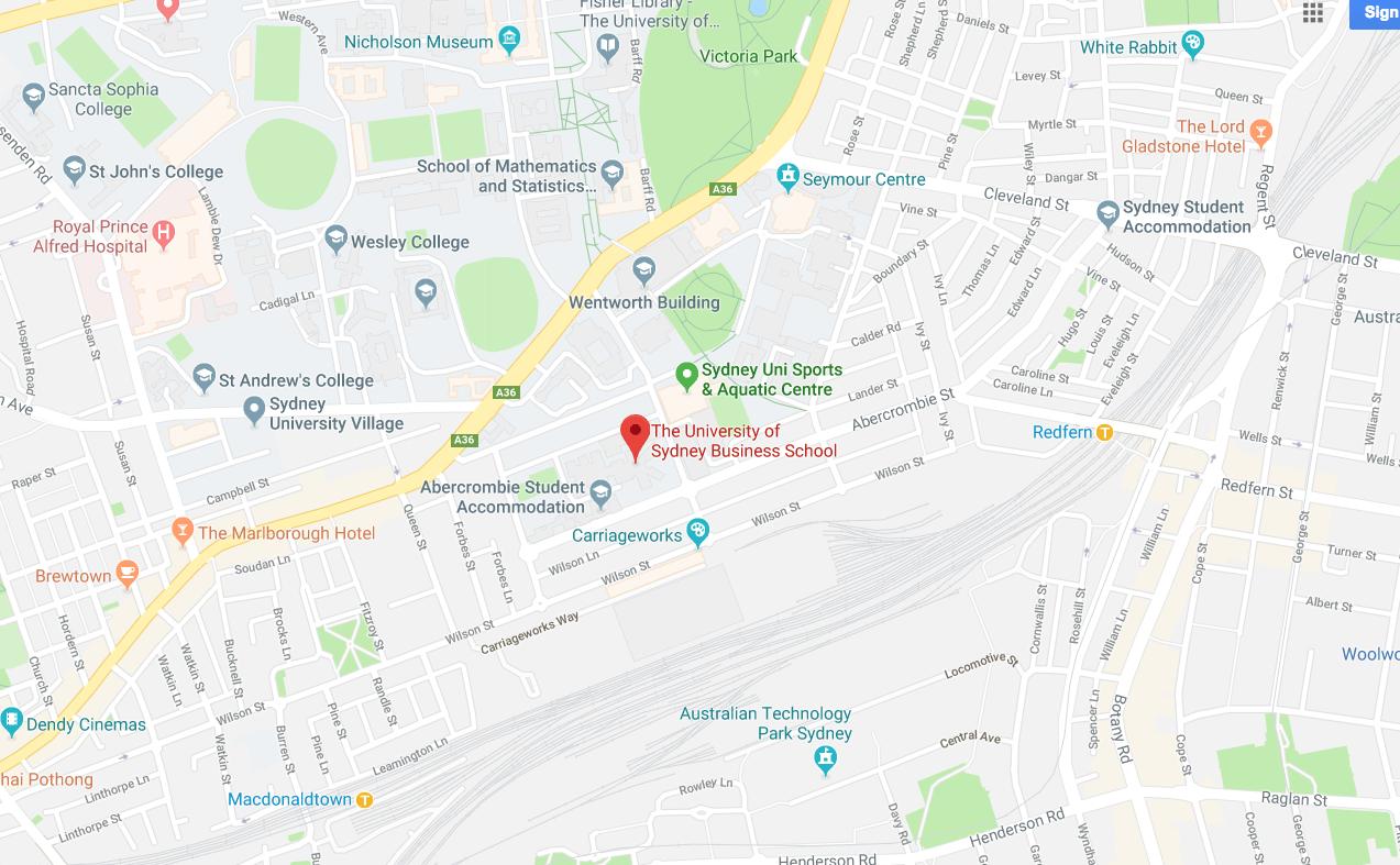 NEW Workshop venue map- 3 July