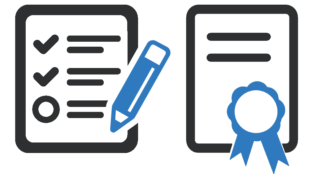 Evaluation & certificate icon