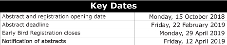 Key-dates-DOHaD-2019