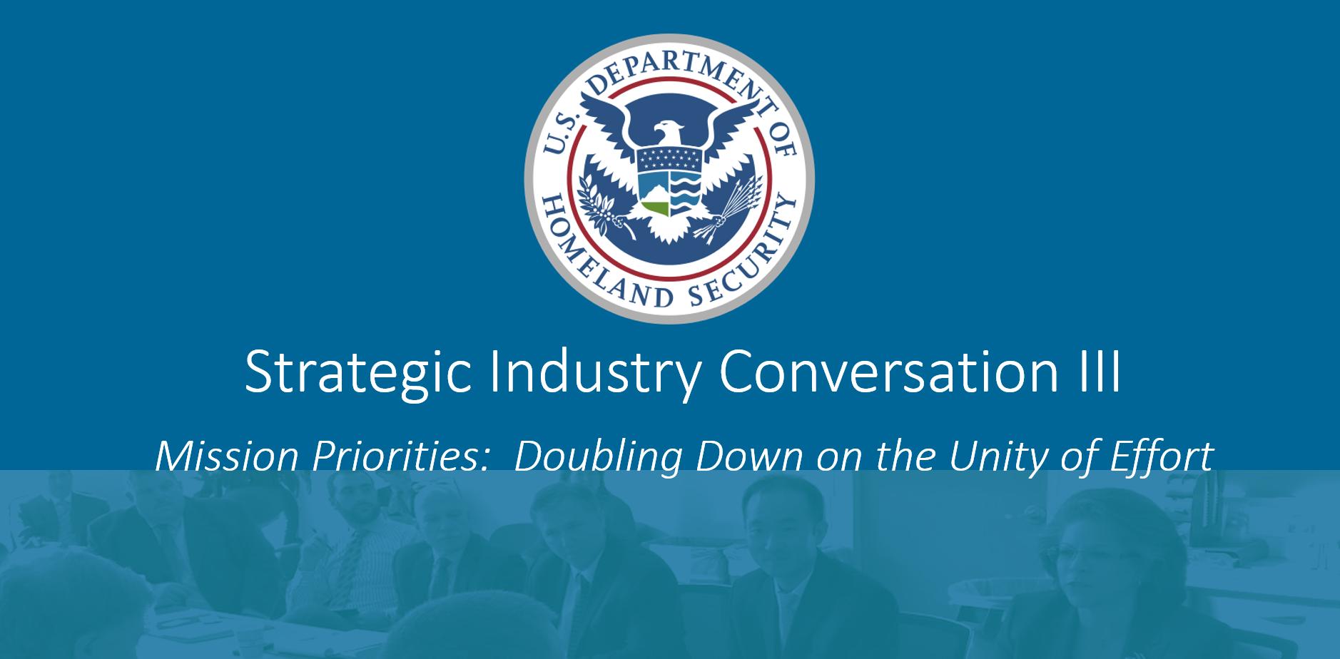 Strategic Industry Conversation III