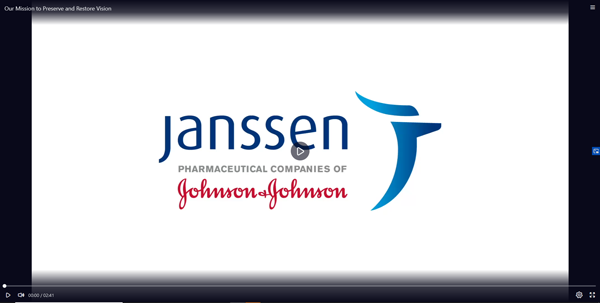 Link to Janssen video 'Our Mission tp Preserve and Reserve Vision''